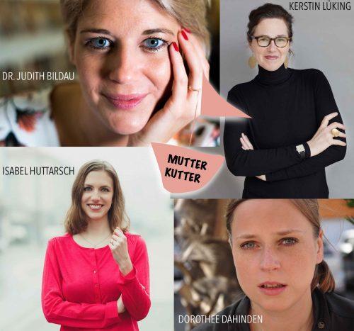 Kleeblatt MutterKutter Team Crew Autorinnen Dr. Judith Bildau Kerstin Lüking Isabel Huttarsch Dorothee Dahinden Mamablog Mutter Mütter