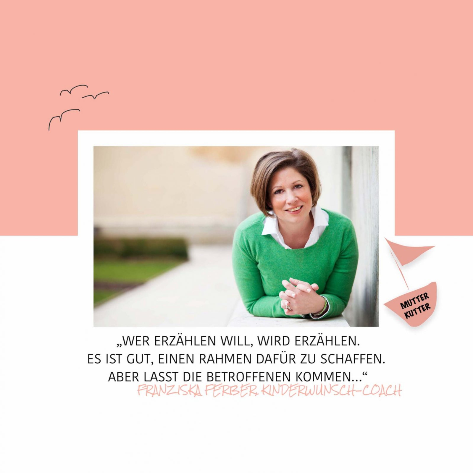 Kinderwunsch-Coach unerfüllter Kinderwunsch Frau Leben Glück Familie Ehe Franziska Ferber MutterKutter